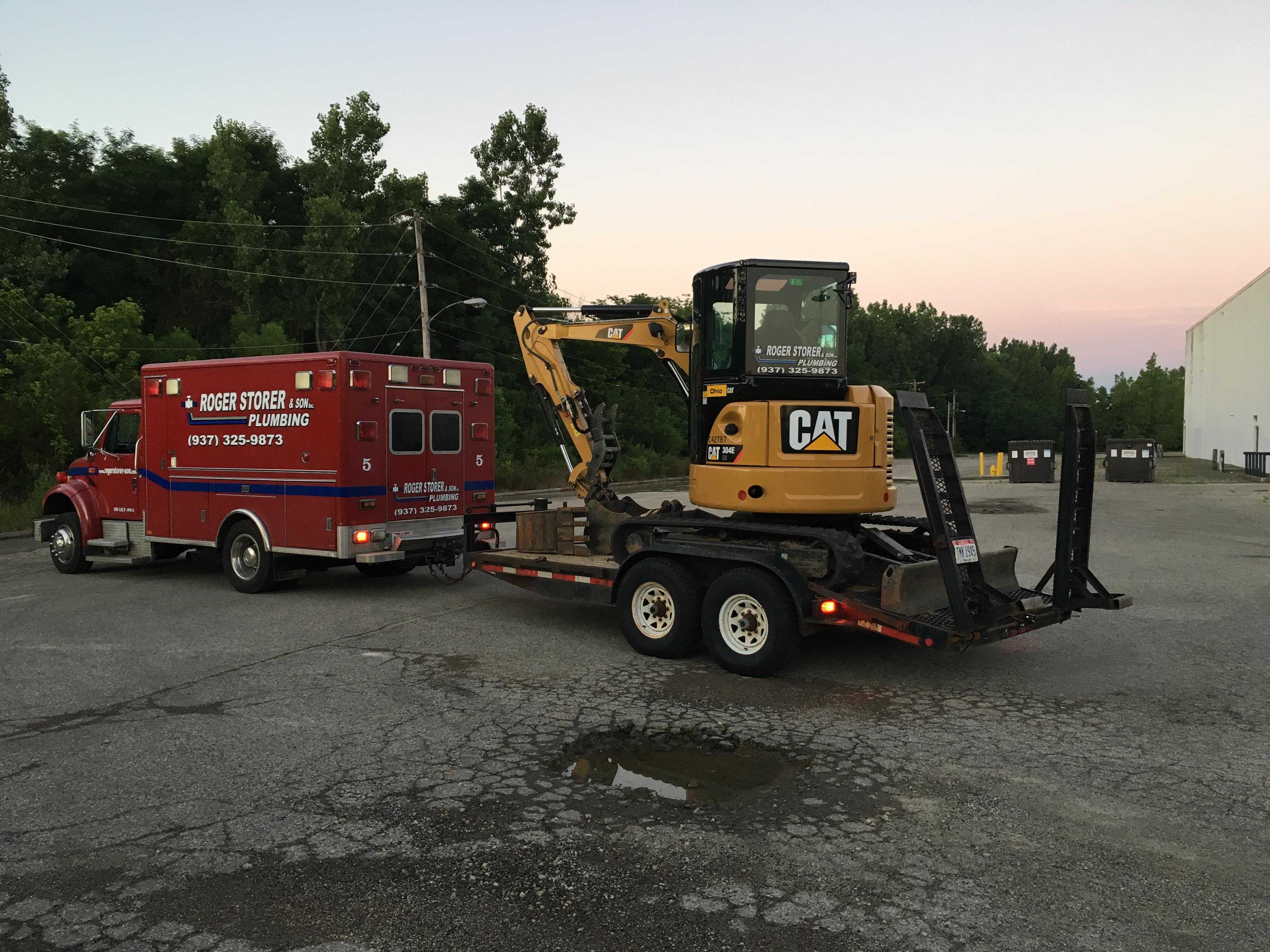 Excavation roger storer plumbing springfield ohio